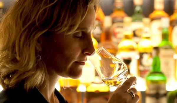 The nose refers to sniffing the whiskey from the glass after the aromas have been released via swirling.