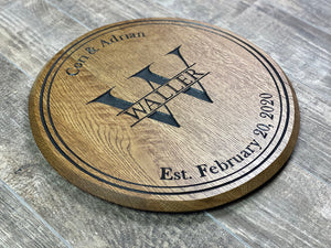 Personalized Lazy Susan Barrel Head
