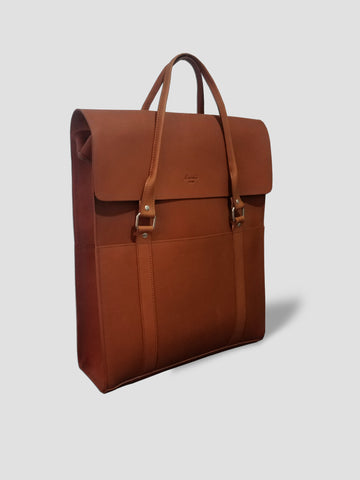 Unisex Sasuke Briefcase in Tan