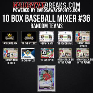 10-Box Baseball Mixer - RANDOM TEAMS #36