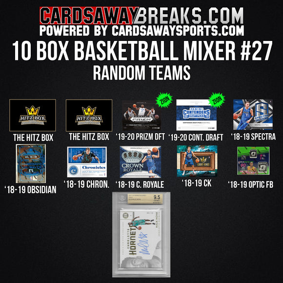 10-Box Basketball Mixer - RANDOM TEAMS #27 (TWO BOXES OF ZION!!) [RELEASES 10-16-19]
