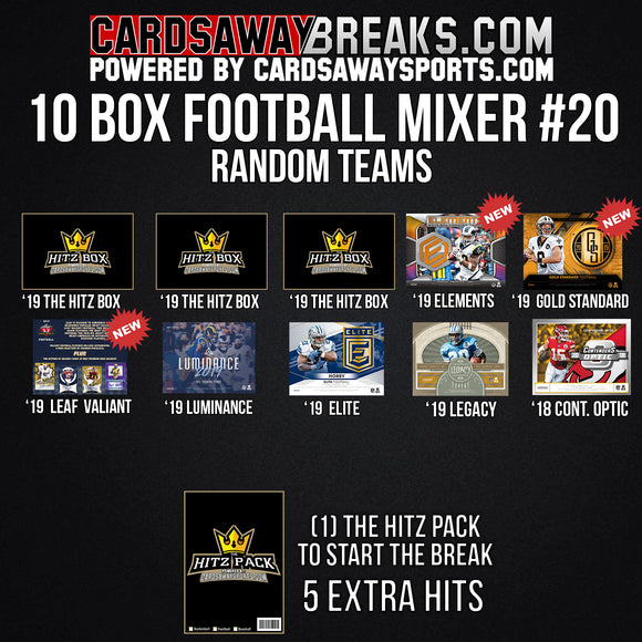 10-Box Football Mixer - RANDOM TEAMS #20