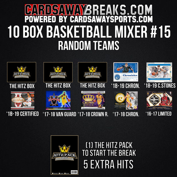 10-Box Basketball Mixer - RANDOM TEAMS #15