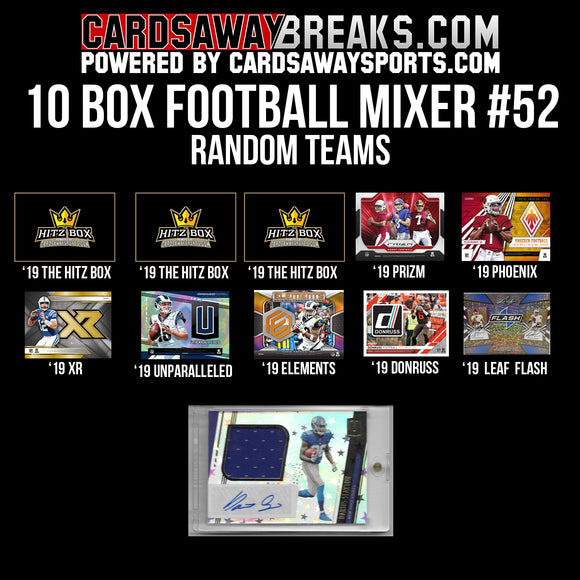 10-Box Football Mixer - RANDOM TEAMS #52