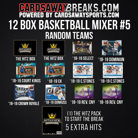 12-Box Basketball Mixer - RANDOM TEAMS #5