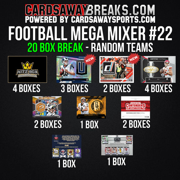 20-Box Football MEGA Mixer - RANDOM TEAMS #22