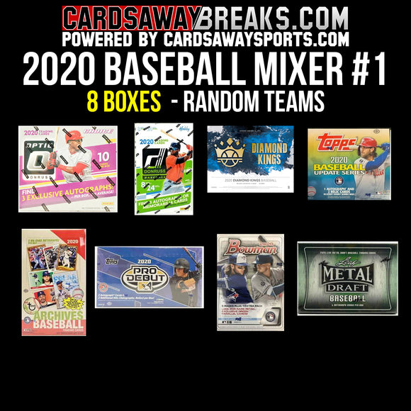 2020 Baseball Mixer (10 Box) - RANDOM TEAMS #1