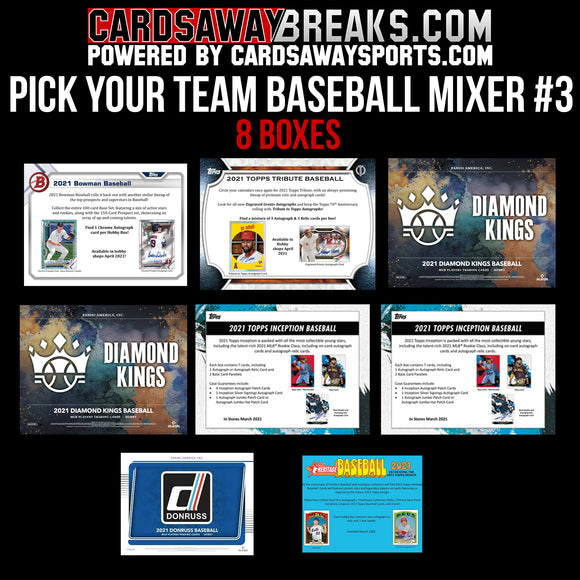 Pick Your Team Baseball Mixer #3