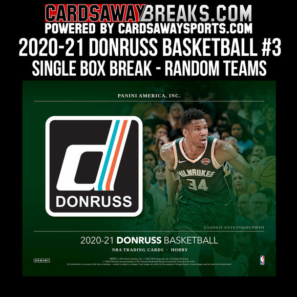 2020-21 Donruss Basketball - Single Box Break - RANOM TEAMS #3