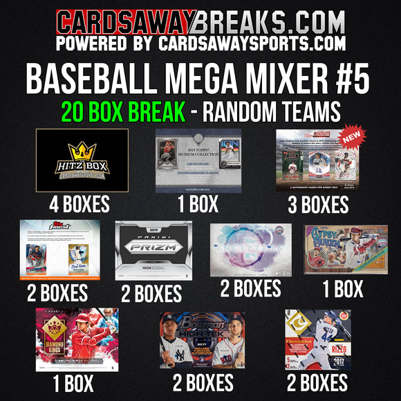 20-Box Baseball MEGA Mixer - RANDOM TEAMS #5