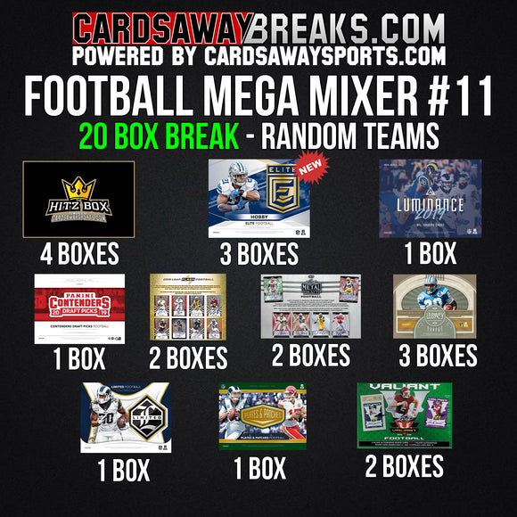 20-Box Football MEGA Mixer - RANDOM TEAMS #11