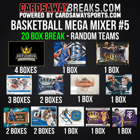20-Box Basketball MEGA Mixer - RANDOM TEAMS #5