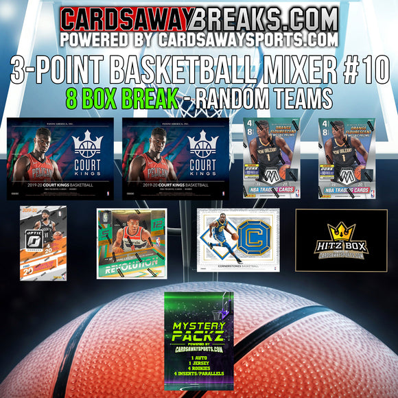 3-Point Basketball Mixer (8 Box) - RANDOM TEAMS #10 (1 MYSTERY PACK + $25 GIFT CARD)