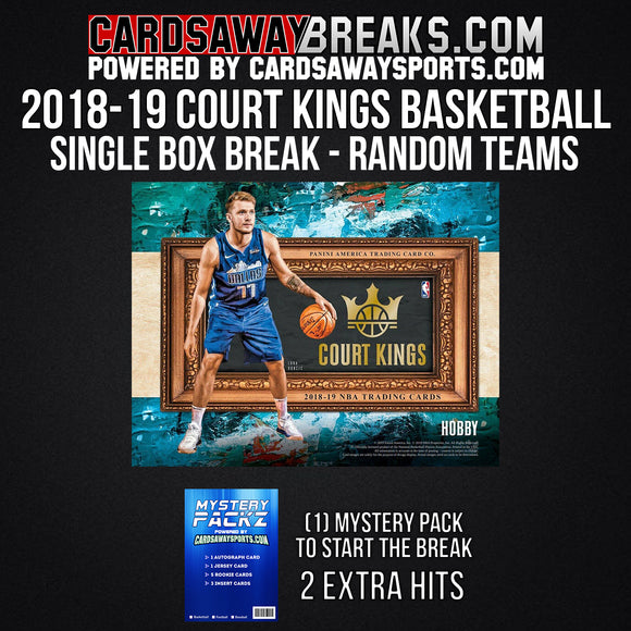 2018-19 Court Kings Basketball - Single Box Break - Random Teams #1
