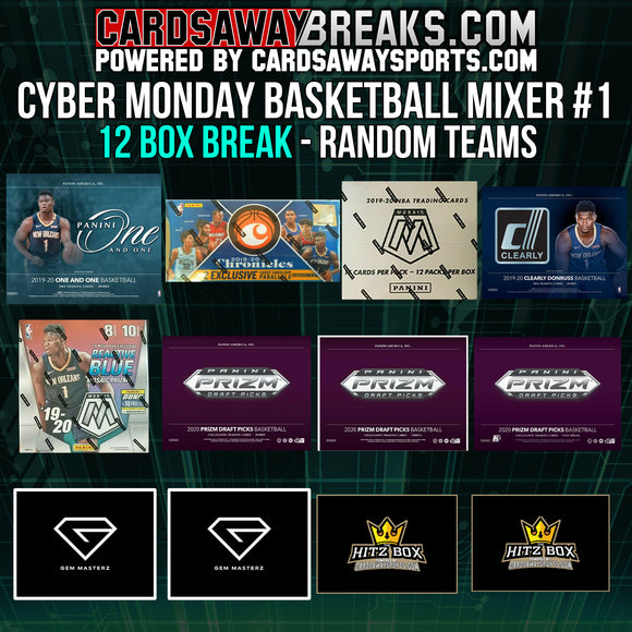 Cyber Monday Basketball Mixer (12 Box) - RANDOM TEAMS #1