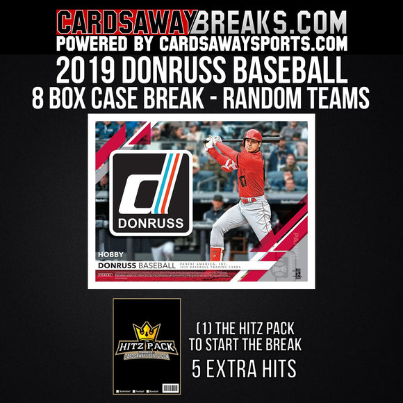 2019 Donruss Baseball 8-Box Break - Random Teams #2