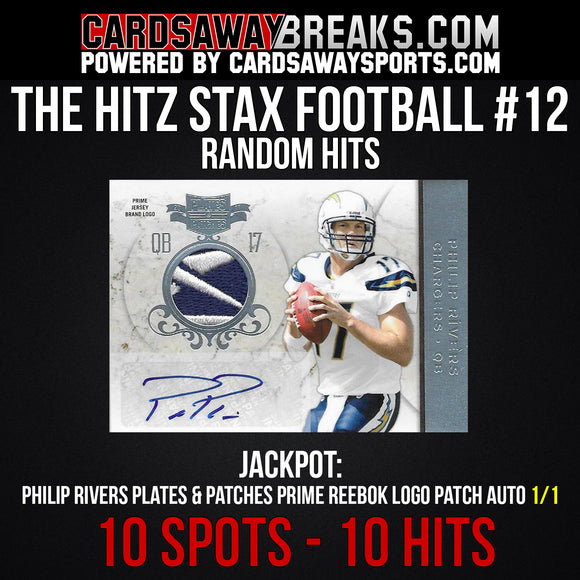 The Hitz Stax (Football) #12 - Philip Rivers Auto 1/1