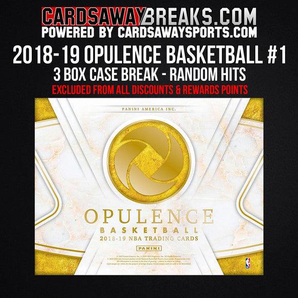 2019 Opulence Basketball 3-Box Case Break - Random Hits #1 (EXCLUDED FROM ALL DISCOUNTS)