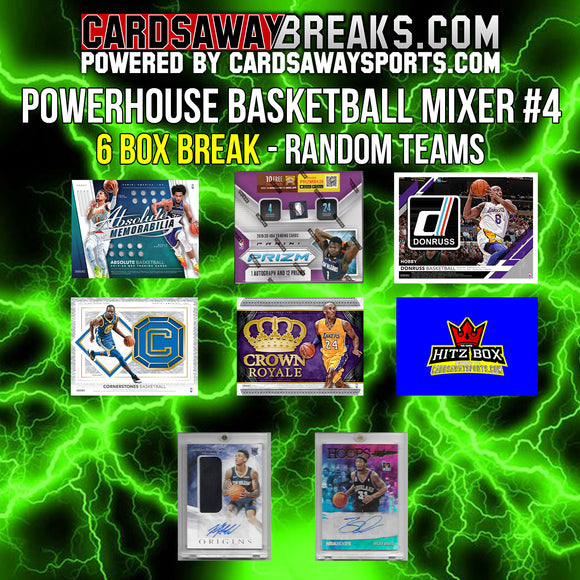 Powerhouse Basketball Mixer (6 Box) - RANDOM TEAMS #4 (2 BONUS CARDS + $25 GIFT CARD)