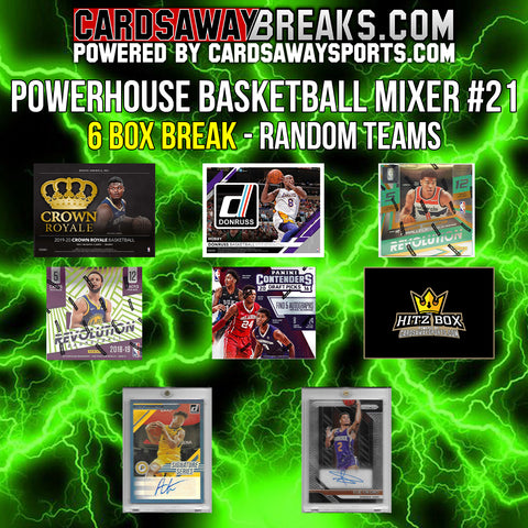 Powerhouse Basketball Mixer (6 Box) - RANDOM TEAMS #21 (2 BONUS CARDS + $25 GIFT CARD)