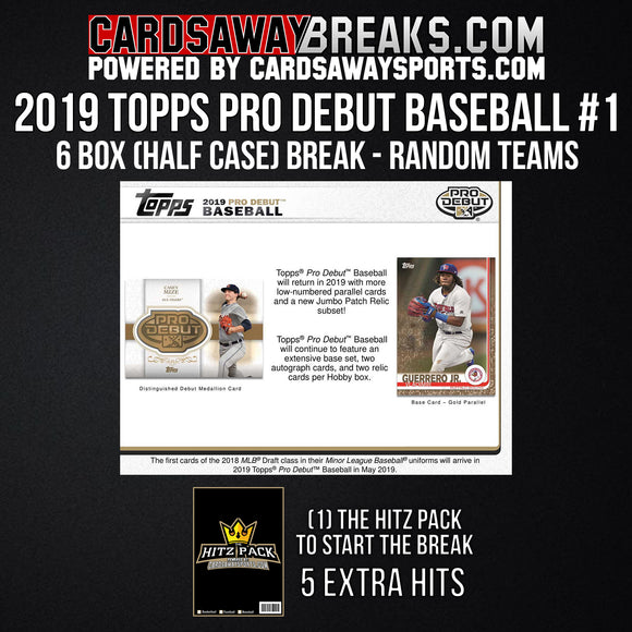 2019 Topps Pro Debut Baseball 6-Box Break - Random Teams #1