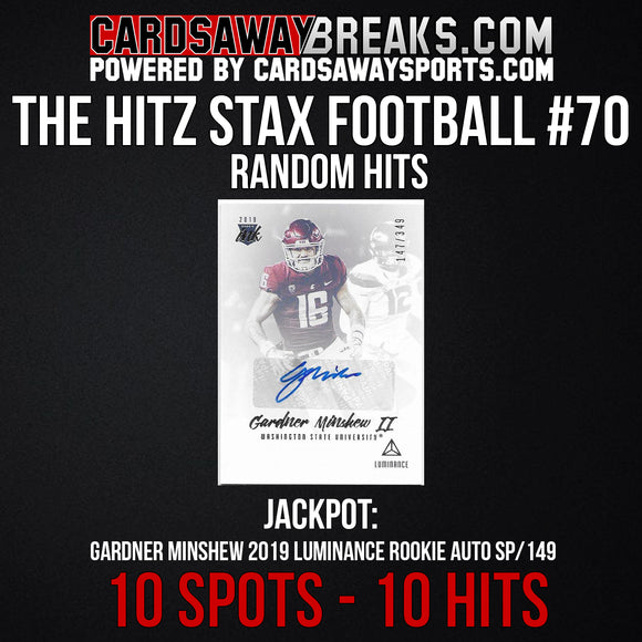 The Hitz Stax (Football) #70 - Gardner Minshew Rookie Auto