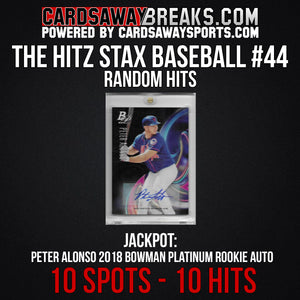 The Hitz Stax (Baseball) #44 - Peter Alonso Bowman Platinum Rookie Auto