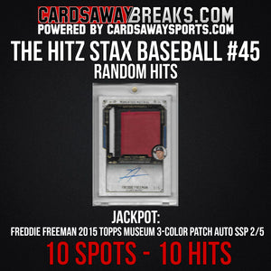The Hitz Stax (Baseball) #45 - Freddie Freeman 3-Color Patch Auto SSP/5