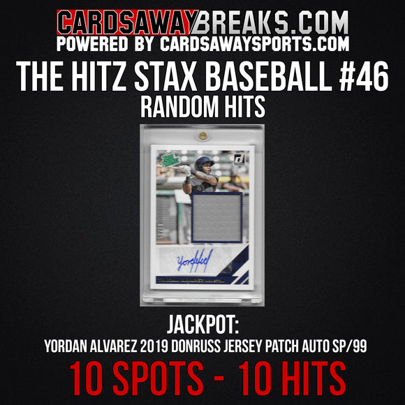 The Hitz Stax (Baseball) #46 - Yordan Alverez Rookie Patch Auto SP/99