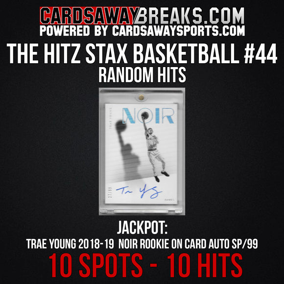 The Hitz Stax (Basketball) #44 - Trae Young Noir Auto SP/99