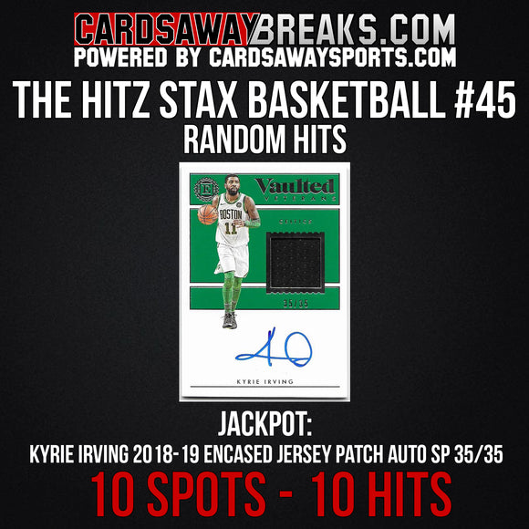 The Hitz Stax (Basketball) #45 - Kyrie Irving Auto SP/35