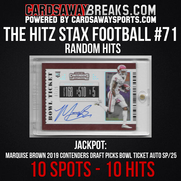The Hitz Stax (Football) #71 - Marquise Brown Auto SP/25