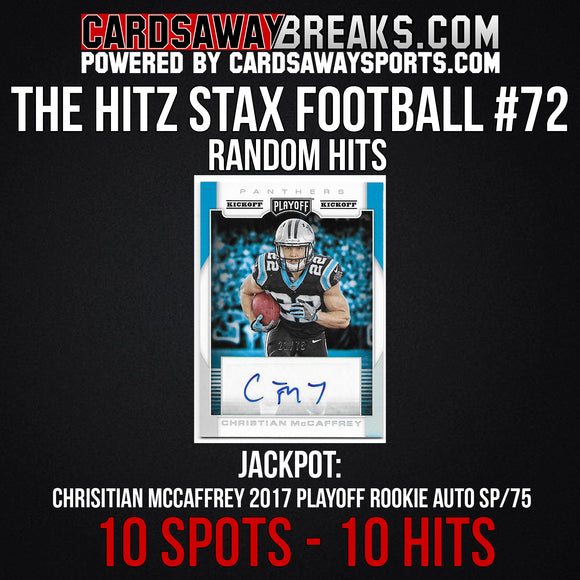 The Hitz Stax (Football) #72 - Christian McCaffrey Auto SP/75