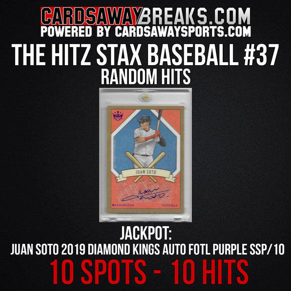 The Hitz Stax (Baseball) #37 - Juan Soto FOTL Auto SP/10