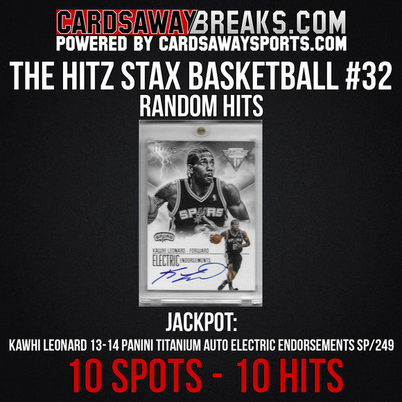 The Hitz Stax (Basketball) #32 - Kawhi Leonard Auto