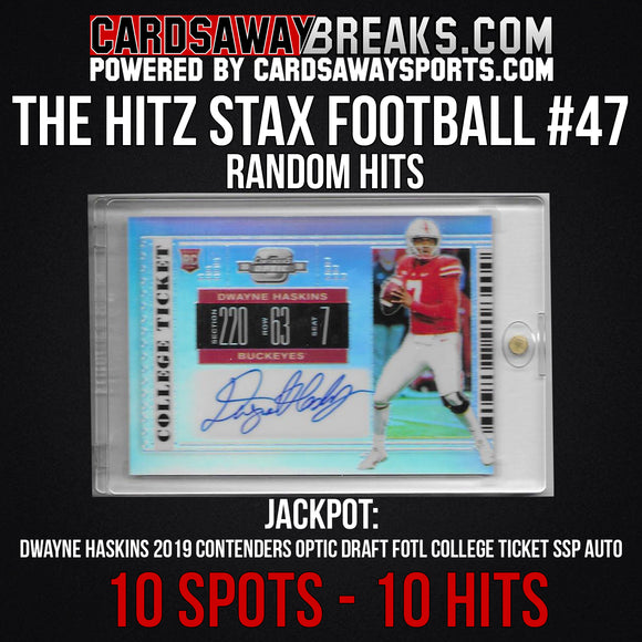 The Hitz Stax (Football) #47 - Dwayne Haskins FOTL SSP Auto