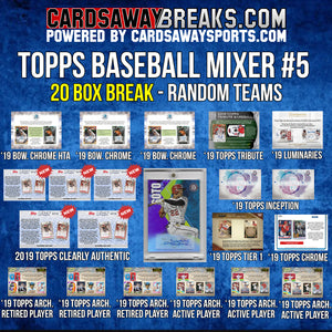 Topps Baseball Mixer (20 Boxes) - RANDOM TEAMS #5