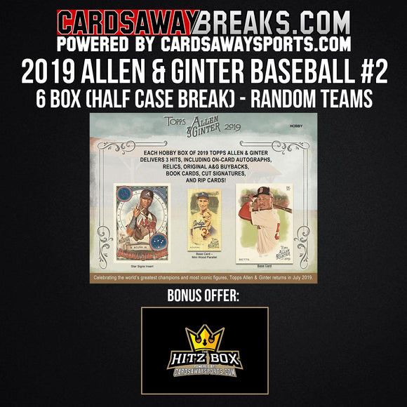 2019 Allen & Ginter Baseball 6-Box Break - Random Teams #2