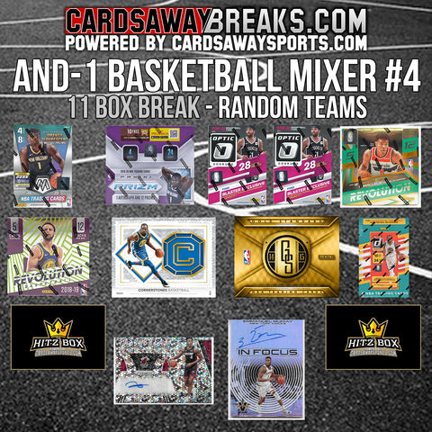 AND-1 Basketball Mixer (10 Box) - RANDOM TEAMS #4 (2 BONUS CARDS + $25 GIFT CARD)
