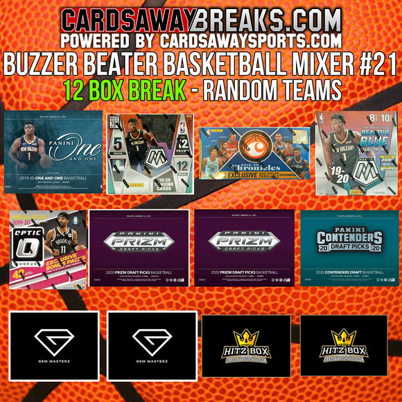 BUZZER BEATER Basketball Mixer (12 Box) - RANDOM TEAMS #21 [RELEASES 11-25-20]