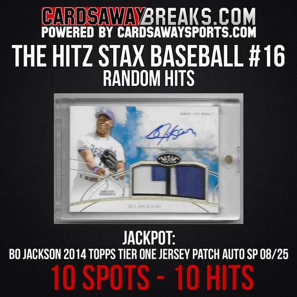 The Hitz Stax (Baseball) #16 - Bo Jackson Auto