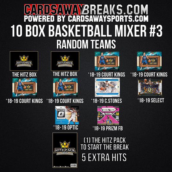 10-Box Basketball Mixer - RANDOM TEAMS #3