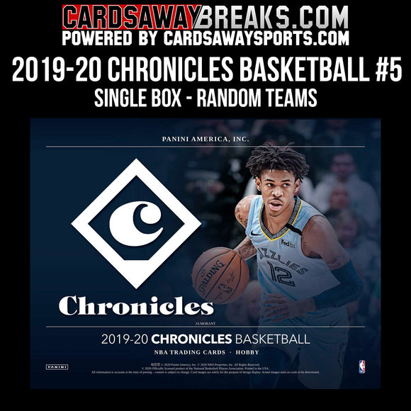 2019-20 Chronicles Basketball - Single Box Break - Random Teams #5