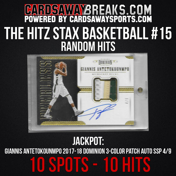 The Hitz Stax (Basketball) #15 - Giannis Patch Auto SP/9