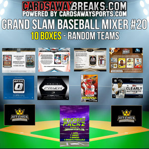 Grand Slam Baseball Mixer (10 Box) - RANDOM TEAMS #20 (1 MYSTERY PACK + $50 GIFT CARD)