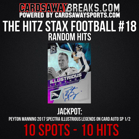 The Hitz Stax (Football) #18 - Peyton Manning Auto SP/2