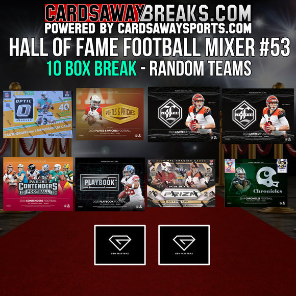 Hall of Fame Football Mixer (10 Box) - RANDOM TEAMS #53