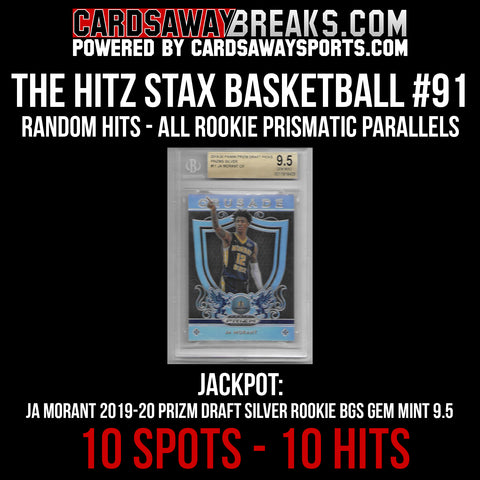 The Hitz Stax (Basketball) #91 - Ja Morant Silver BSG 9.5