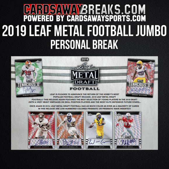 2019 Leaf Metal Draft Football Jumbo - Single Box Personal Break