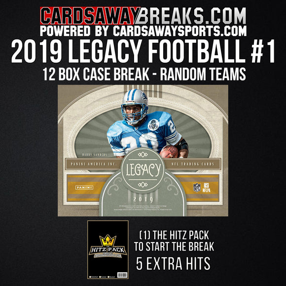 2019 Legacy Football 12-Box Break - Random Teams #1